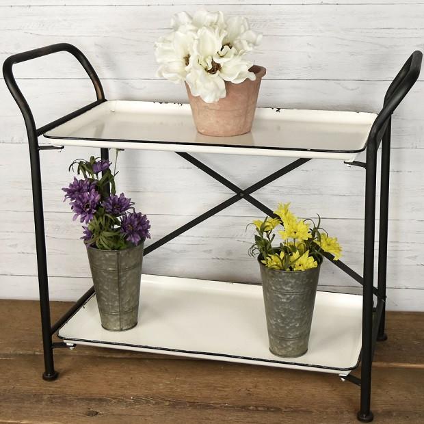 farmhouse tray cart