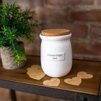 Lidded Blessings Jar With Paper Hearts