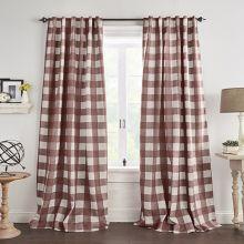 Red Buffalo Check Room Darkening Curtain Panel Set of 2 52x95