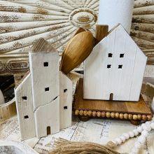 Rustic House Shaped Utensil Holder