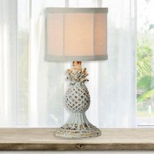 Rustic Pineapple Table Lamp