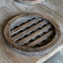 Wooden Round Lattice Charger Plate
