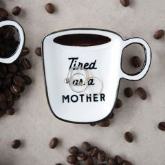 Mug Shaped Spoon Rest With Saying Set of 4
