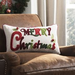 Festive Merry Christmas Pillow