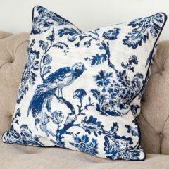 Toile Fabric Throw Pillow