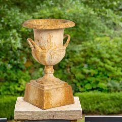 Antiqued Pedestal Urn Planter