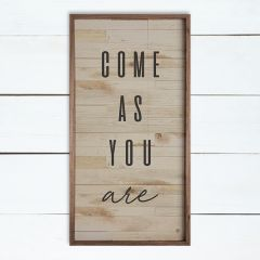 Come As You Are Whitewash Wall Art