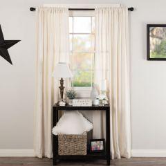 Simple Burlap Curtain Panel Set of 2
