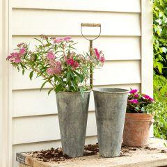 Double Garden Bucket Planter 29 Inch