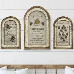 Bee Arch Wall Art Set of 3