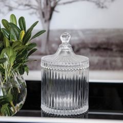 Classic Glass Jar With Finial-Topped Lid