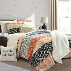 3 Piece Bohemian Stripe Quilt Set