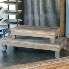 Wooden Display Risers Set of 2