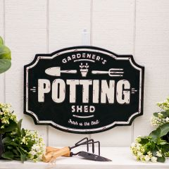 Potting Shed Wall Plaque Sign