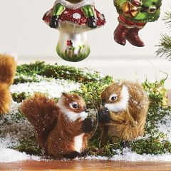 Sweet Squirrel Ornament Set of 2