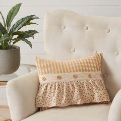 Ruffled Neutral Throw Pillow