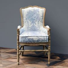 French Country Fireside Lounge Chair