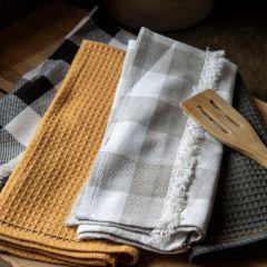 Patterned Fringed Tea Towel Collection Set of 4