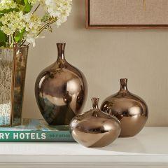 Classic Metallic Vase Set of 3