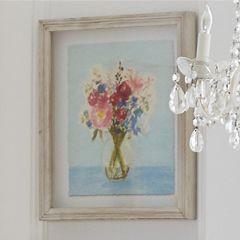 Floral Vase Shadow Box Print