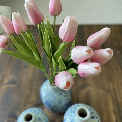 Real Touch Pink Tulip Bundle Set of 2