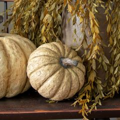 Decorative Paper Mache Pumpkin 6 Inch