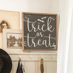 Trick Or Treat Bats Black Wall Art