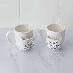 Let's Talk Tea Mug Set of 2