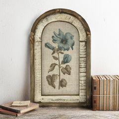 Framed Arched Botanical Linen Print