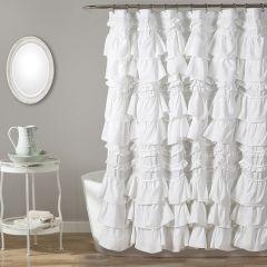 Ruffled Waterfall Shower Curtain