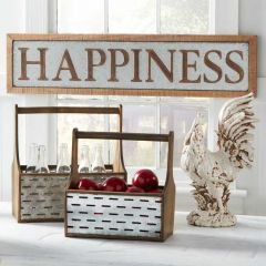Framed HAPPINESS Sign