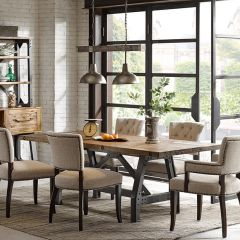 Handsome Industrial Dining Table
