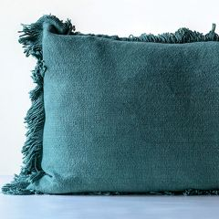Rectangle Pillow With Fringe Edge