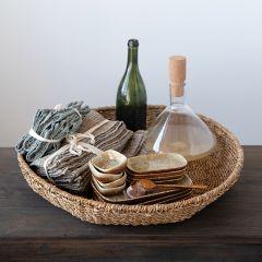 Decorative Round Seagrass Tray