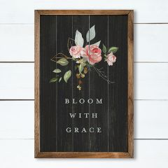 Bloom With Grace Framed Wall Art