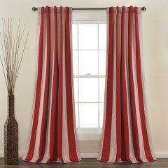 Striped Room Darkening Curtain Panel Set of 2