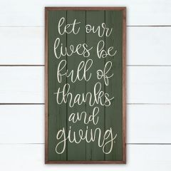 Thanks And Giving Green Wall Art