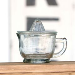 Pressed Glass Hand Juicer