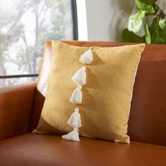 Bright Pillow With Tassels
