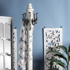 Ornate Wood Coat Rack