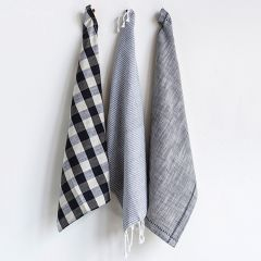 Casual Farmhouse Tea Towels Set of 3