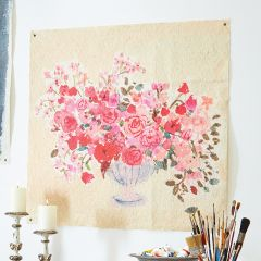 Pretty Flowers In Vase Paper Wall Art