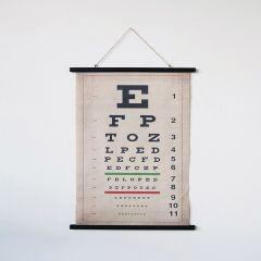 Vintage Inspired Hanging Eye Chart Scroll