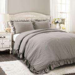 Smoky Ruffled Comforter