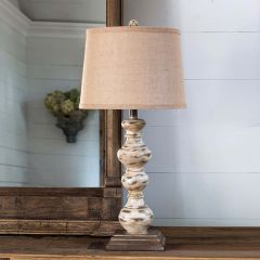 Candlestick Turned Spindle Lamp