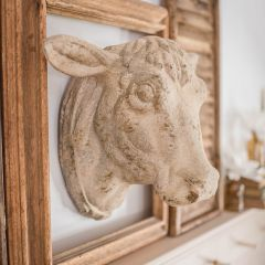 Decorative Weathered Cow Head Wall Mount