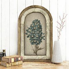 Framed Arched Floral Linen Print