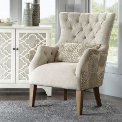 Pretty Pattern Accent Chair With Pillow