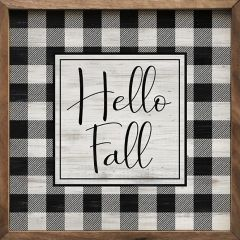 Hello Fall Plaid Wall Art