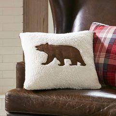 Woodland Bear Berber Accent Pillow
